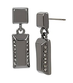 Kenneth Cole® Pave Rectangle Double Drop Earrings