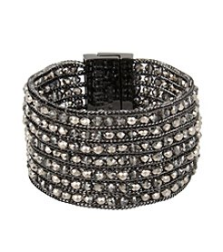 Kenneth Cole® Woven Faceted Bead Multi Row Bracelet