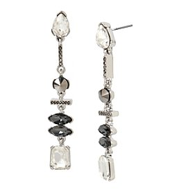 Kenneth Cole® Pave Mixed Metallic Faceted Stone Linear Earrings