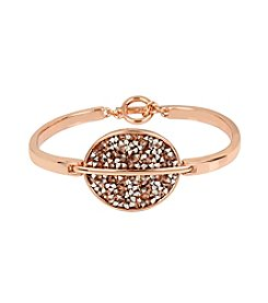 Kenneth Cole® Mixed Sprinkled Stone Oval Toggle Bracelet