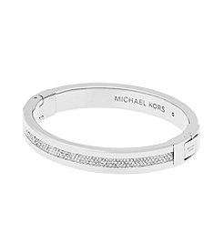 Michael Kors® Silvertone Pave Path Bracelet