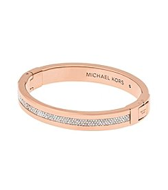 Michael Kors® Rose Goldtone Pave Path Bracelet