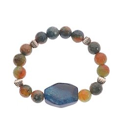 L&J Accessories Multicolored Genuine Stone Stretch Bracelet