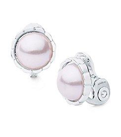 Anne Klein® Pearl Clip Earrings