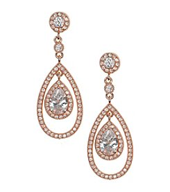 Anne Klein® Pave Drop Orbital Earrings