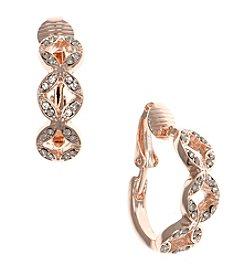 Anne Klein® Rose Goldtone Clip Earrings