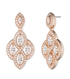 Anne Klein® Pave Chandelier Drop Earrings