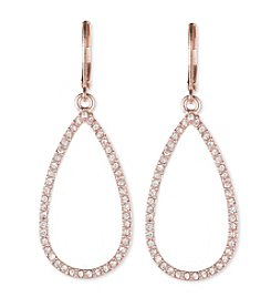 Anne Klein® Rose Goldtone Teardrop Earrings