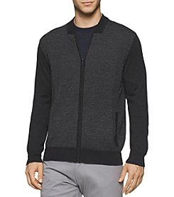 Calvin Klein Men's Merino Acrylic Baseball Sweater
