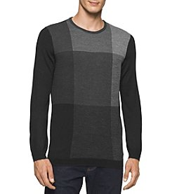 Calvin Klein Men's Birds Eye Plaid Merino Sweater