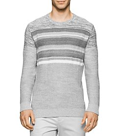 Calvin Klein Men's Textured Crew Neck Sweater