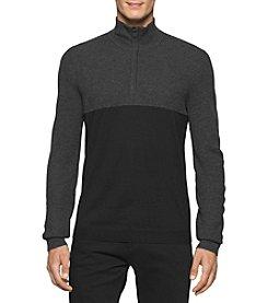 Calvin Klein Men's Merino Acrylic 1/4 Zip Pullover