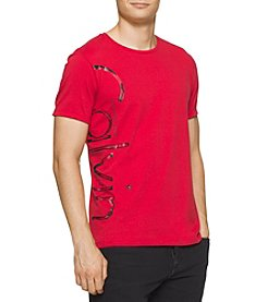 Calvin Klein Jeans® Men's Distressed Foil Short Sleeve Tee
