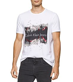 Calvin Klein Jeans® Men's Distressed Molten Foil Short Sleeve Tee