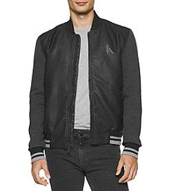 Calvin Klein Jeans® Men's Hybrid Baseball Bomber Jacket