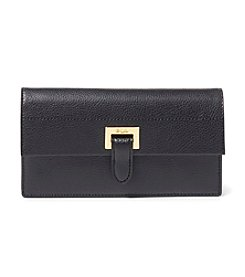 Lauren Ralph Lauren Slim Pebbled Leather Wallet