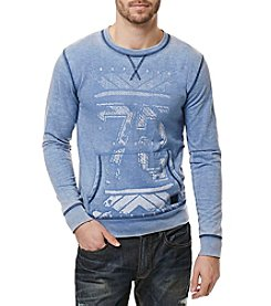 Buffalo by David Bitton Men's Storm Fire Long Sleeve Crew Neck Pullover