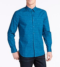 William Rast® Men's Gage Printed Long Sleeve Button Down Shirt