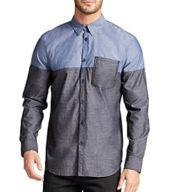 William Rast® Men's Aston Colorblock Long Sleeve Button Down Shirt
