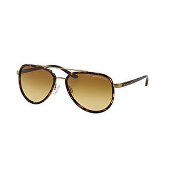 Michael Kors® Tortoise Shell Aviator Sunglasses