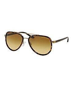 Michael Kors® Tortoise Shell Aviator Sunglasses