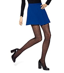 HUE® Dotted Mesh Tights With Control Top