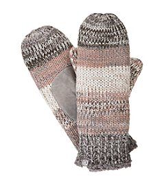 Isotoner Signature® Striped Knit Sherpasoft Mittens