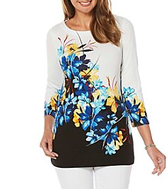 Rafaella® Floral 3/4 Sleeve Top