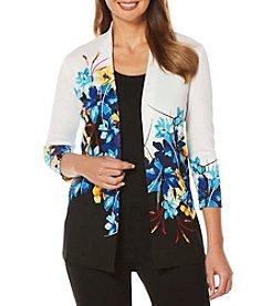 Rafaella® Floral 3/4 Sleeve Knit Cardigan