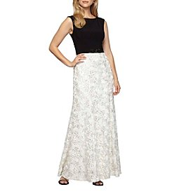 Alex Evenings® Boat Neck Long Dress