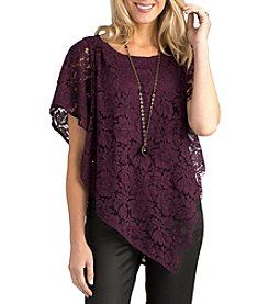 Democracy Asymmetrical Lace Top