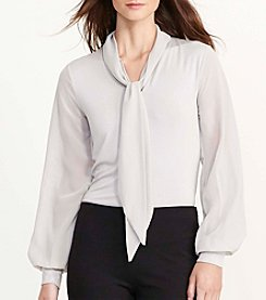 Lauren Jeans Co.® Tie Neck Blouse