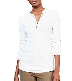 Lauren Jeans Co.® Zip Up Knit Top