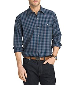 Van Heusen® Men's Big & Tall Long Sleeve Heathered Plaid Button Down Shirt