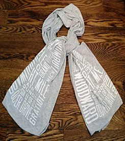Detroit Scroll Printed Scarf
