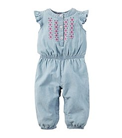 Carter's® Baby Girls' Chambray Jumpsuit