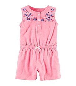 Carter's® Baby Girls' Embroidered Romper