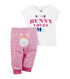 Carter's® Baby Girls' 2-Piece Set Some Bunny Loves Me