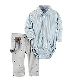 Carter's® Baby Boys 3-piece Bodysuit, Pants & Suspender Set