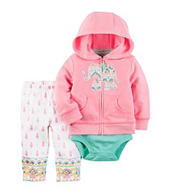Carter's® Baby Girls' 3-Piece Set Cardigan Bodysuit And Pants
