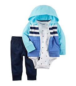 Carter's® Baby Boys 3-Piece Cardigan Bodysuit Set