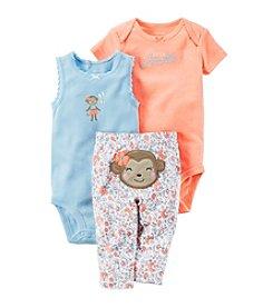 Carter's® Baby Girls' 3-Piece Monkey Set