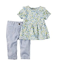 Carter's® Baby Girls' 2 Pc Set Floral Shirt And Pants