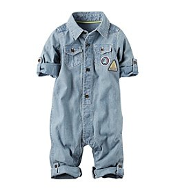 Carter's® Baby Boys Chambray Romper