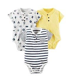 Carter's® Baby Boys' 3pk Henley Bodysuits