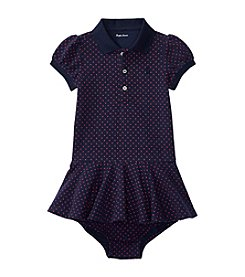 Ralph Lauren® Baby Girls' Polka Dotted Knit Dress