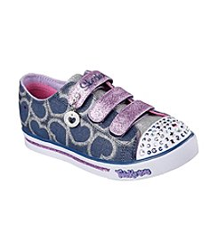 Skechers® Girls' Glitter Printed Heart Shoes
