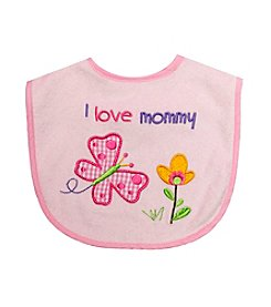 Cuddle Bear® Baby Girls' I Love Mommy Feeding Bib