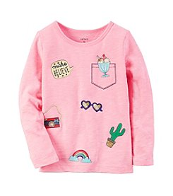 Carter's® Girls' 2T-8 Travel Long Sleeve Tee