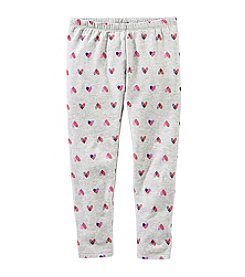 OshKosh B'Gosh® Girls' 2T-8 Heart Leggings